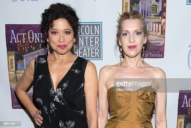 Actors Mimi Lieber and Deborah Offner attend the opening night party for Act One at The Plaza Hotel on April 17 2014 in New York City