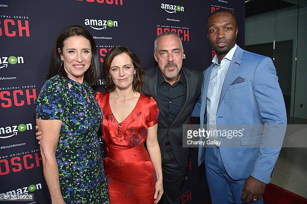 Actors Mimi Rogers, Sarah Clarke, Titus Welliver and Jamie Hector attend Amazon Red Carpet Premiere Screening For Season Two Of Original Drama...