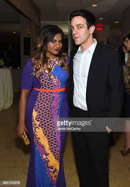 Actors Mindy Kaling and BJ Novak attend the Grey Goose hosted Michael Sugar Doug Wald and Warren Zavala preoscar party at Sunset Tower on February 21...
