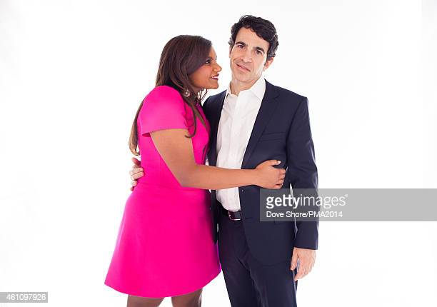 Actors Mindy Kaling and Chris Messina pose for a portrait at the The PEOPLE Magazine Awards on December 18 2014 in Beverly Hills California
