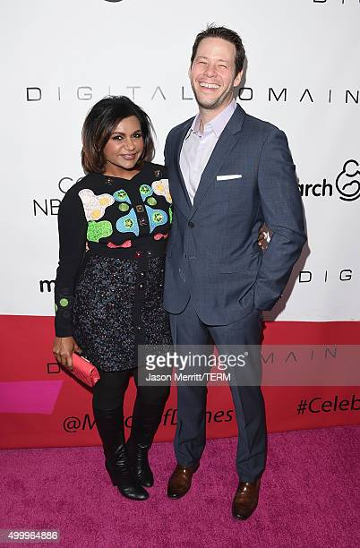 Actors Mindy Kaling and Ike Barinholtz attend the March Of Dimes Celebration Of Babies Luncheon honoring Jessica Alba at the Beverly Wilshire Four...