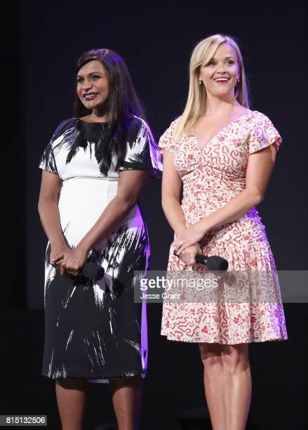 Actors Mindy Kaling and Reese Witherspoon of A WRINKLE IN TIME took part today in the Walt Disney Studios live action presentation at Disney's D23...