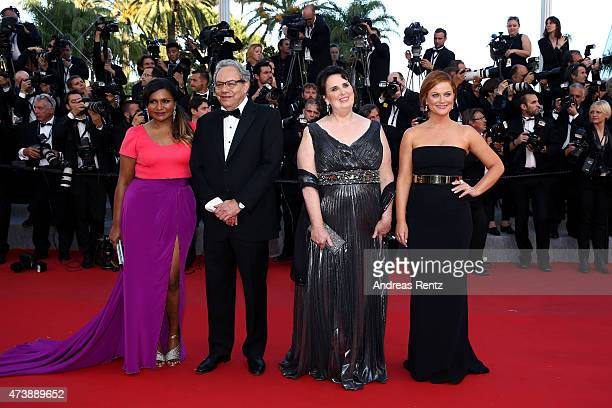 """Actors Mindy Kaling, Lewis Black, Phyllis Smith and Amy Poehler attends the Premiere of """"Inside Out"""" during the 68th annual Cannes Film Festival on..."""