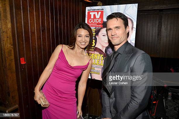 Actors MingNa Wen and Brett Dalton attend the TV Guide Magazine's Hot List Party at Emerson Theatre on November 4 2013 in Hollywood California