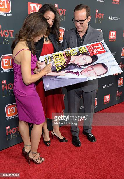 Actors MingNa Wen and Clark Gregg attend TV Guide Magazine's Annual Hot List Party at The Emerson Theatre on November 4 2013 in Hollywood California