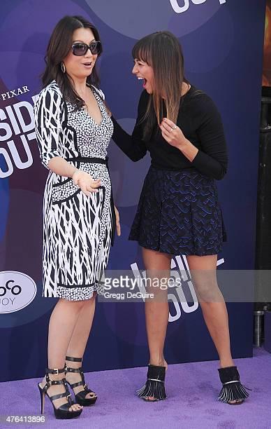 Actors MingNa Wen and Rashida Jones arrive at the Los Angeles premiere of Disney/Pixar's 'Inside Out' at the El Capitan Theatre on June 8 2015 in...