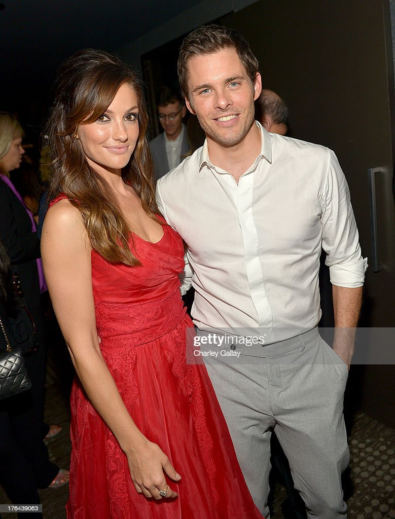 Actors Minka Kelly (L) and James Marsden attend the after party for LEE DANIELS' THE BUTLER Los Angeles premiere, hosted by TWC, Budweiser and FIJI Water, Purity Vodka and Stack Wines, held at the Ritz-Carlton on August 12, 2013 in Los Angeles, California.