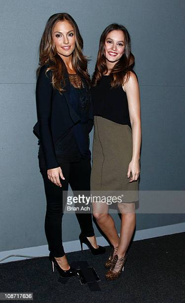 Actors Minka Kelly and Leighton Meester visit the Apple Store Soho on February 1 2011 in New York City