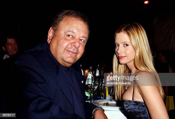 Actors Mira and Paul Sorvino pose at the Oscar Night Benefit Party for Amnesty International and the ACLU Foundation on February 29, 2004 at Ago in...