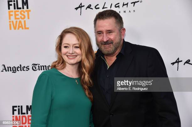 Actors Miranda Otto and Anthony LaPaglia attend the premiere of Warner Bros Pictures' 'Annabelle Creation during the 2017 Los Angeles Film Festival...