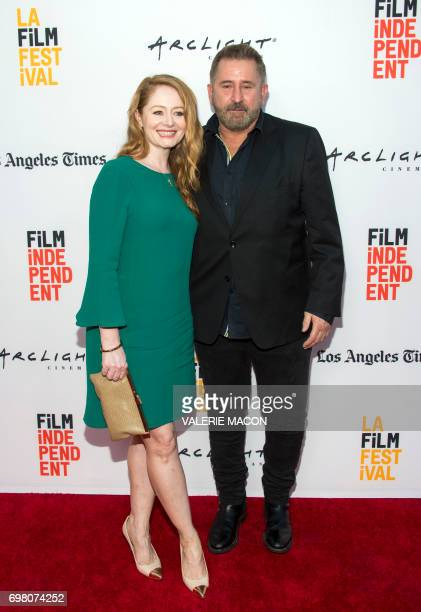 Actors Miranda Otto and Anthony LaPaglia attend the Red Carpet arrivals at a Special Advance Screening of 'Annabelle Creation' on June 19 2017 in Los...