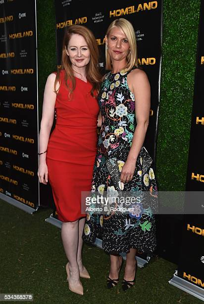 Actors Miranda Otto and Claire Danes attend an Emmy For Your Consideration Event for Showtime's Homeland at the Zanuck Theater at 20th Century Fox...