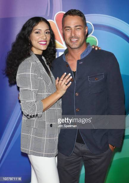 Actors Miranda Rae Mayo and Taylor Kinney attend the NBC Fall New York Junket at Four Seasons Hotel New York on September 6 2018 in New York City