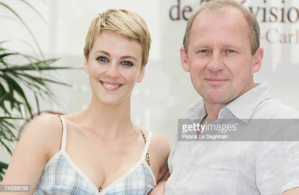 Actors Miranda Raison and Peter Firth attend a photocall promoting the television serie 'Spooks' on the first day of the 2007 Monte Carlo Television...