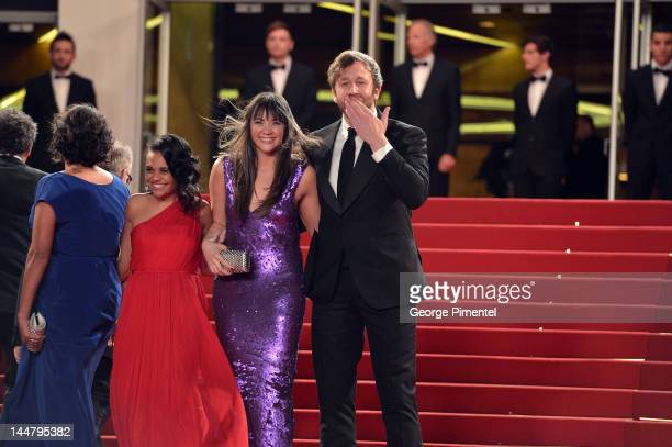 """Actors Miranda Tapsell, Shari Sebbens and Chris O'Dowd attend the """"The Sapphires"""" Premiere during the 65th Annual Cannes Film Festival at Palais des..."""