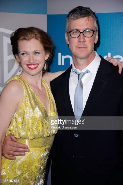 Actors Mireille Enos and Alan Ruck arrive at 13th Annual Warner Bros And InStyle Golden Globe Awards After Party at The Beverly Hilton hotel on...