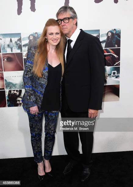 Actors Mireille Enos and Alan Ruck attend the Premiere of New Line Cinema's and MetroGoldwynMayer Pictures' 'If I Stay' at TCL Chinese Theatre on...