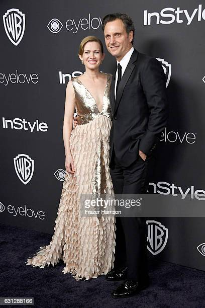Actors Mireille Enos and Tony Goldwyn attend the 18th Annual PostGolden Globes Party hosted by Warner Bros Pictures and InStyle at The Beverly Hilton...