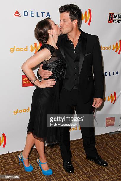Actors Miriam Shor and Mark Deklin attend the 23rd Annual GLAAD Media Awards at the Westin Bonaventure Hotel on April 21 2012 in Los Angeles...