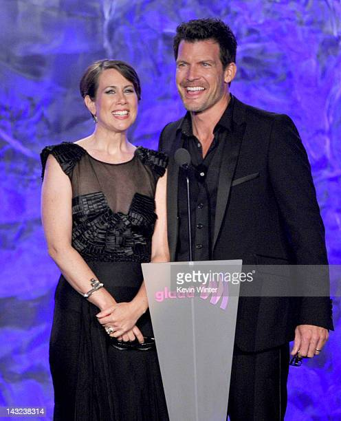 Actors Miriam Shor and Mark Deklin speak onstage at the 23rd Annual GLAAD Media Awards presented by Ketel One and Wells Fargo held at Westin...