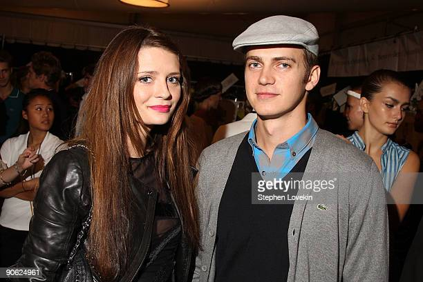 Actors Mischa Barton and Hayden Christensen attend the Lacoste SS10 Fashion Show at Bryant Park on September 12 2009 in New York City