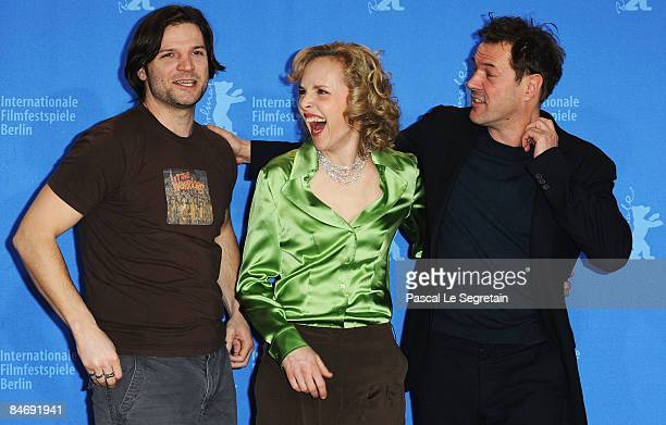 Actors Misel Maticevic, Juliane Koehler and Sebastian Koch attend the photocall for 'Effi Briest' as part of the 59th Berlin Film Festival at the...
