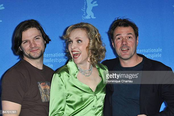 Actors Misel Maticevic Juliane Koehler and Sebastian Koch attend the Effi Briest photocall during the 59th Berlin International Film Festival at the...