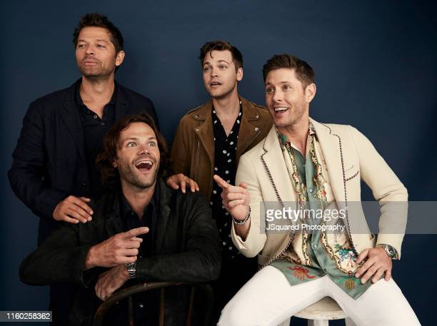 Actors Misha Collins Jared Padalecki Alexander Calvert and Jensen Ackles of The CW's 'Supernatural' pose for a portrait during the 2019 Summer TCA...