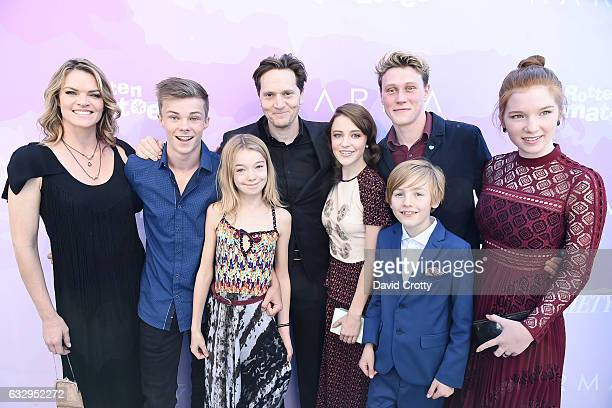 Actors Missi Pyle Nicholas Hamilton and Shree Crooks writer/director Matt Ross and actors Samantha Isler George MacKay Charlie Shotwell and Annalise...