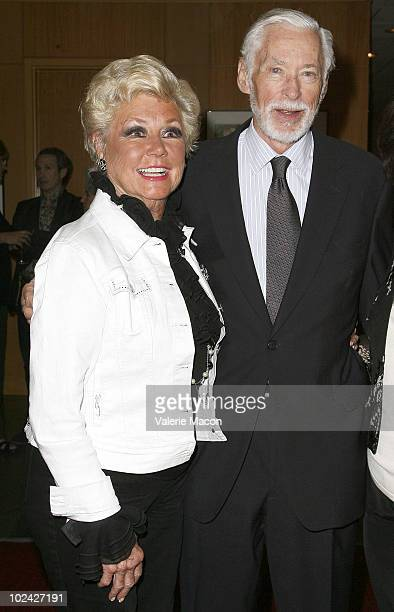 Actors Mitzi Gaynor and John Kerr attend AMPAS Screening Of Restored 70mm Print Of South Pacific on June 25 2010 in Beverly Hills California