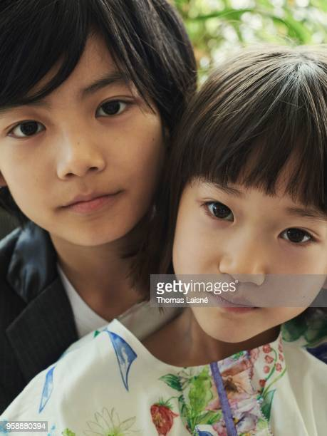 Actors Miyu Sasaki and Jyo Kairi are photographed for Gala Croisette on May 2018 in Cannes France