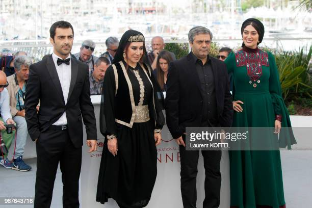 Actors Mohammad Akhlaghirad Nasim Adabi director Mohammad Rasoulof and actress Soudabeh Beizaee attend 'Lerd ' Photocall during the 70th annual...