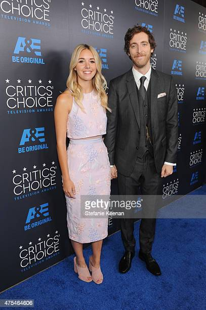Actors Mollie Gates and Thomas Middleditch attend the 5th Annual Critics' Choice Television Awards at The Beverly Hilton Hotel on May 31 2015 in...