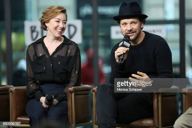 Actors Molly Parker and Peter Sarsgaard discuss 'Wormwood' at Build Studio on December 11 2017 in New York City