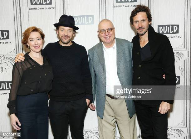 Actors Molly Parker and Peter Sarsgaard filmmaker Errol Morris and actor Christian Camargo discuss 'Wormwood' at Build Studio on December 11 2017 in...