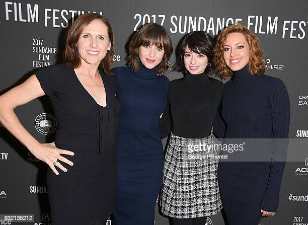 Actors Molly Shannon Alison Brie Kate Micucci and Aubrey Plaza attend The Little Hours premiere during day 1 of the 2017 Sundance Film Festival at...