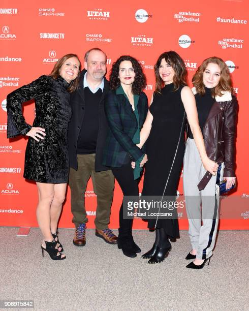 Actors Molly Shannon and Paul Giamatti Director Tamara Jenkins and Actors Kathryn Hahn and Kayli Carter attend the Private Life Premiere during the...