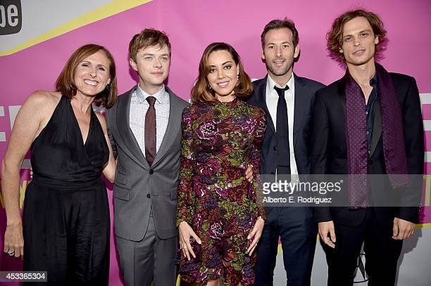 Actors Molly Shannon Dane DeHaan Aubrey Plaza writer/director Jeff Baena and actor Matthew Gray Gubler attend the screening of Life After Beth with...