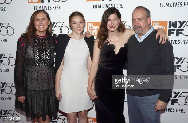 Actors Molly Shannon Kayli Carter Kathryn Hahn and Paul Giamatti attend the 56th New York Film Festival premiere of Private Life at Alice Tully Hall...