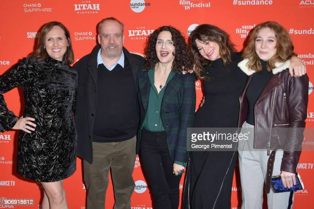 Actors Molly Shannon Paul Giamatti director Tamara Jenkins Kathryn Hahn and Kayli Carter attend the 'Private Life' Premiere during the 2018 Sundance...
