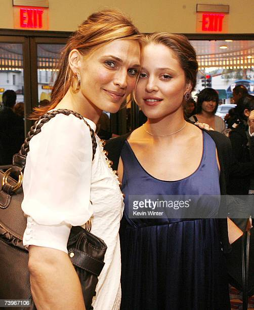 Actors Molly Sims and Margarita Levieva pose at a screening of Hollywood Picture's The Invisible at the Bruin Theatre on April 24 2007 in Los Angeles...