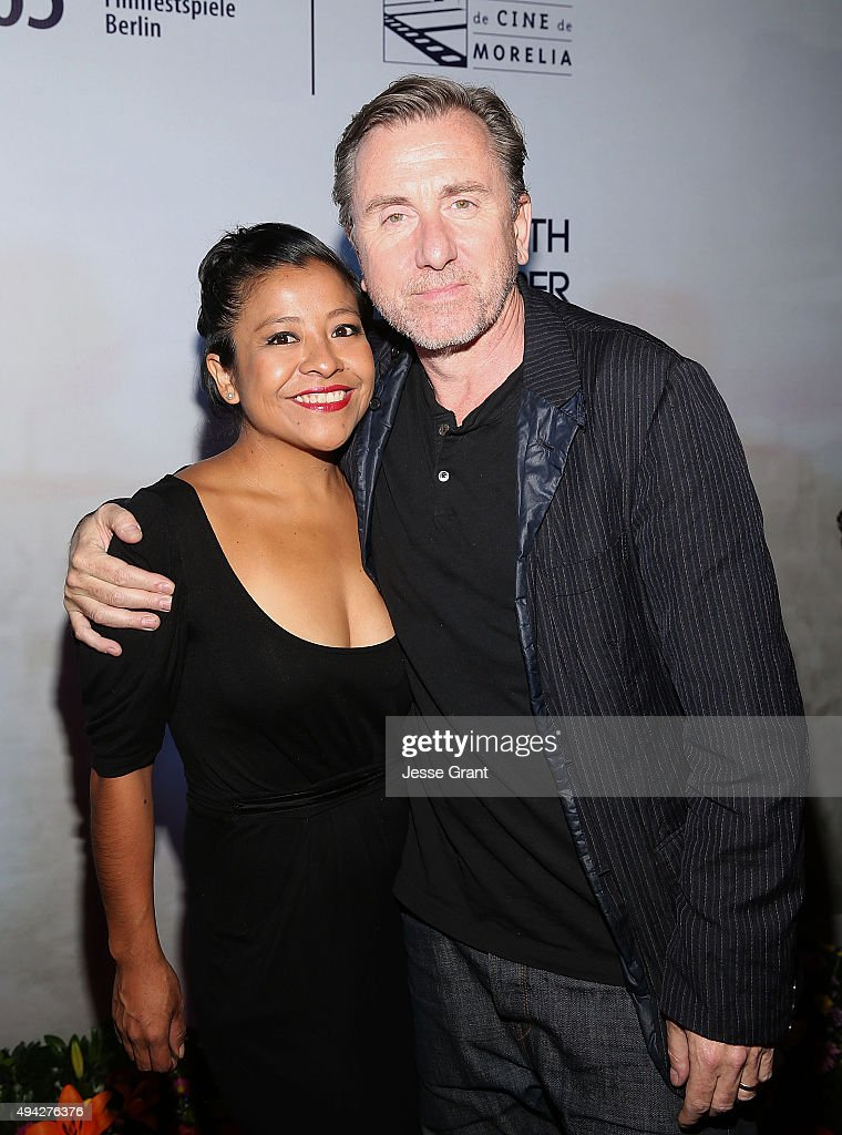 Actors Monica del Carmen and Tim Roth attend the Mexican premiere of '600 Millas' during The 13th Annual Morelia International Film Festival on October 25, 2015 in Morelia, Mexico.