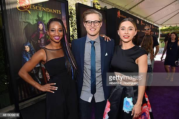 Actors Monique Coleman Lucas Grabeel and Olesya Rulin attend the premiere of Disney Channel's Descendants at Walt Disney Studios on July 24 2015 in...