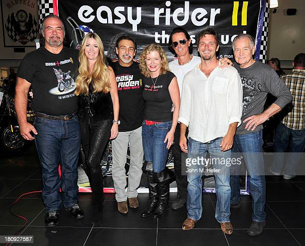 Actors Monte Johnson Jodie Fisher Executive Producer of 'Easy Rider The Ride Back' Vince Morella actress/producer of 'Easy Rider The Ride Back'...