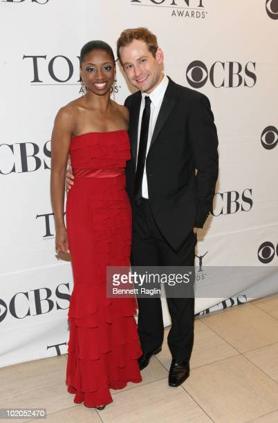 Actors Montego Glover and Chad Kimball attend the 64th Annual Tony Awards at The Sports Club/LA on June 13 2010 in New York City