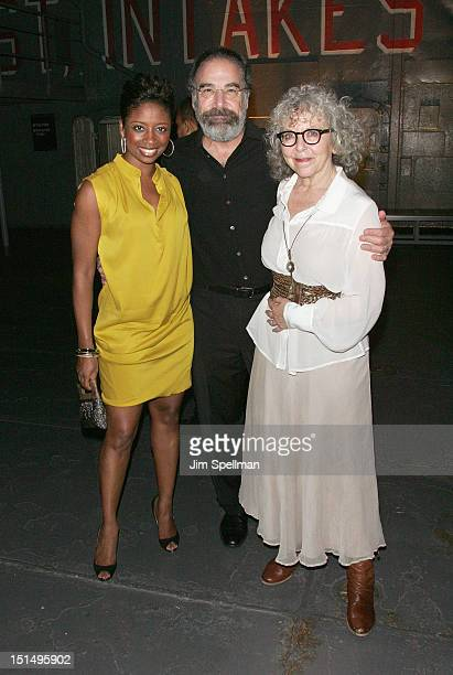 Actors Montego Glover Mandy Patinkin and Kathryn Grody attend the after party for the Season 2 premiere of Homeland hosted by Time Warner Cable...