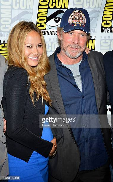 Actors Moon Bloodgood and Will Patton attend 'Falling Skies' during ComicCon International 2012 held at the Hilton San Diego Bayfront Hotel on July...