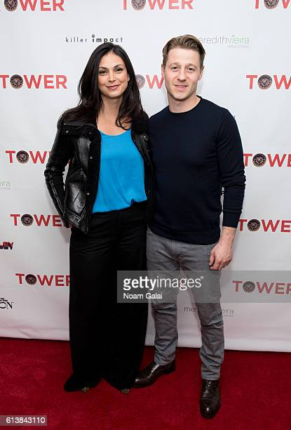 Actors Morena Baccarin and Ben McKenzie attend the 'Tower' New York premiere at The New York Edition on October 10 2016 in New York City