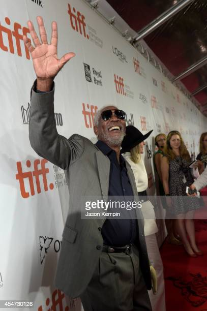 Actors Morgan Freeman and Diane Keaton attend the Ruth Alex premiere during the 2014 Toronto International Film Festival at Roy Thomson Hall on...