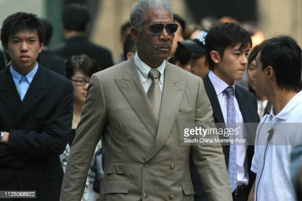 Actors Morgan Freeman and Edison Chen Koonhei take part in shooting the Batman movie The Dark Knight in Hong Kong 10 NOVEMBER 2007